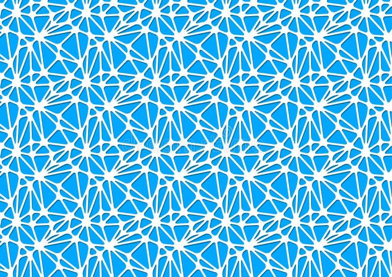 Vitt nerv- nätverk på blått, abstrakt format för bakgrund a4 stock illustrationer