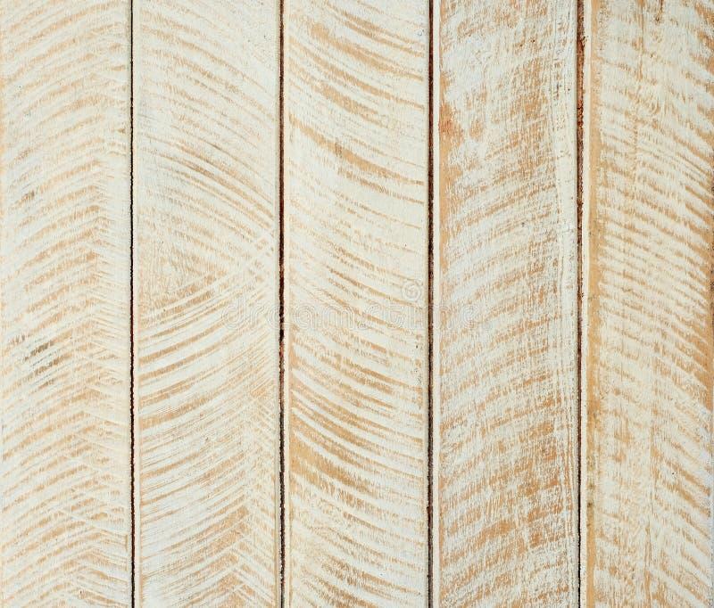 Vitt och brunt tr? f?r tappningm?lningdesignen texturerade upp bakgrund, detaljyttersidaslut royaltyfri foto