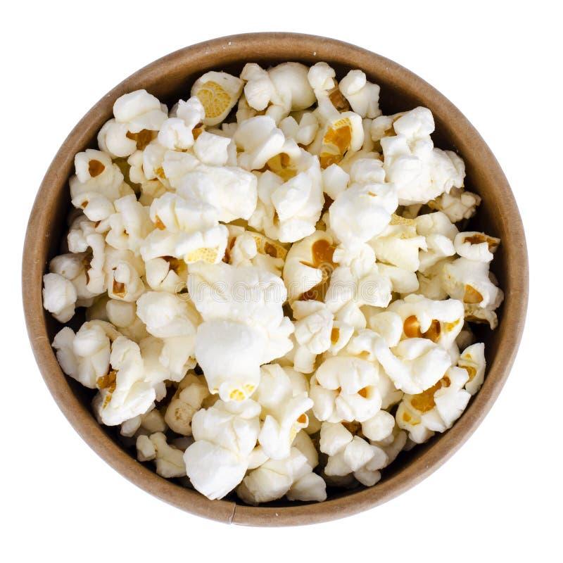 Vitt och glasat popcorn arkivfoton