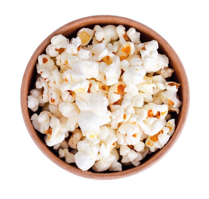 Vitt och glasat popcorn arkivbilder