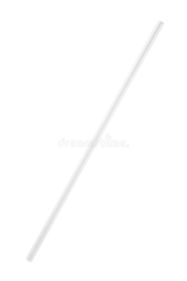 vitt plast- dricka sugrör royaltyfri bild