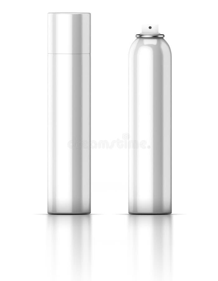 Vitt rör deodorant hårspray spray royaltyfri illustrationer