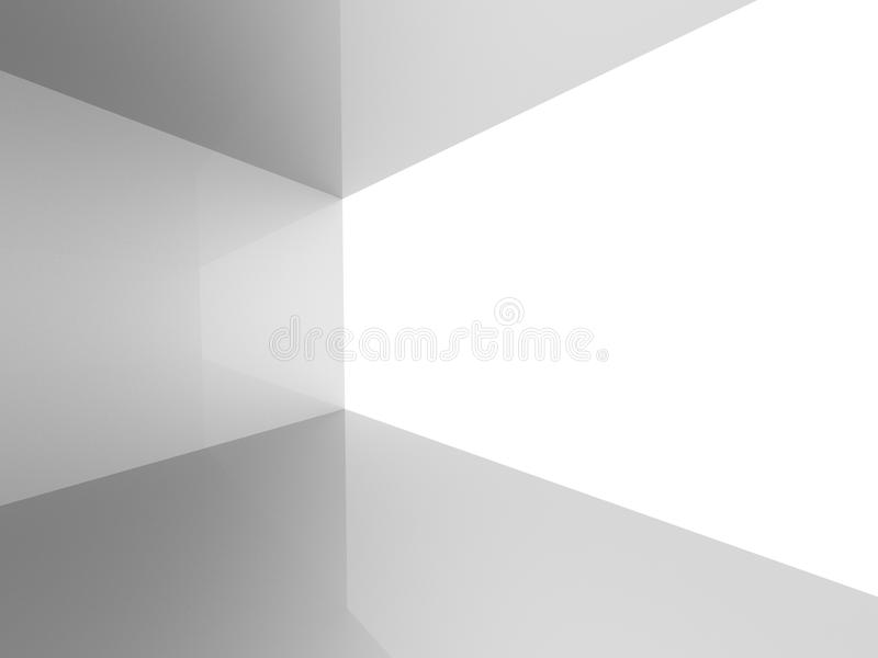 Vitt töm bekväm bakgrund för rum stock illustrationer