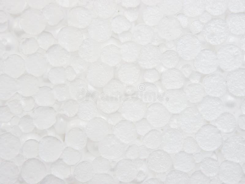 Vitt texturslut för plast- skum upp som bakgrund royaltyfria bilder