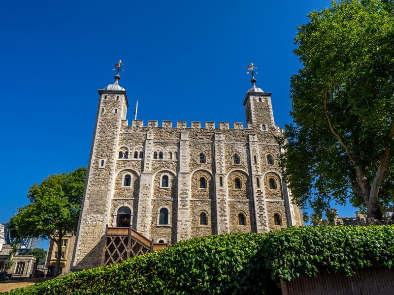 Vitt torn inom tornet av London royaltyfria bilder