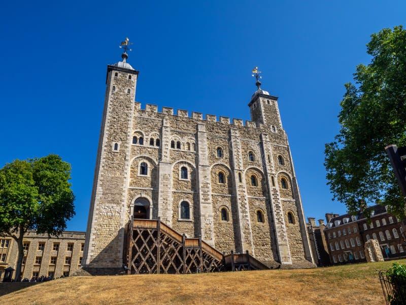 Vitt torn inom tornet av London arkivbilder