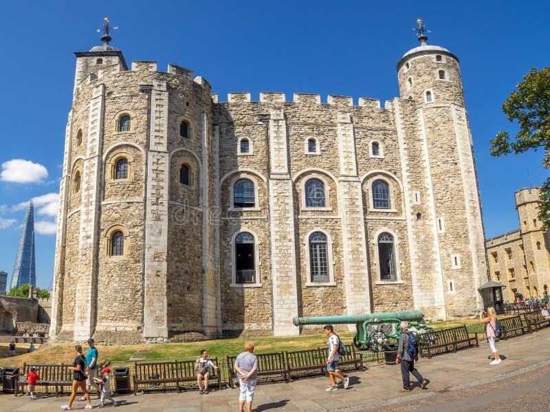 Vitt torn inom tornet av London arkivfoton