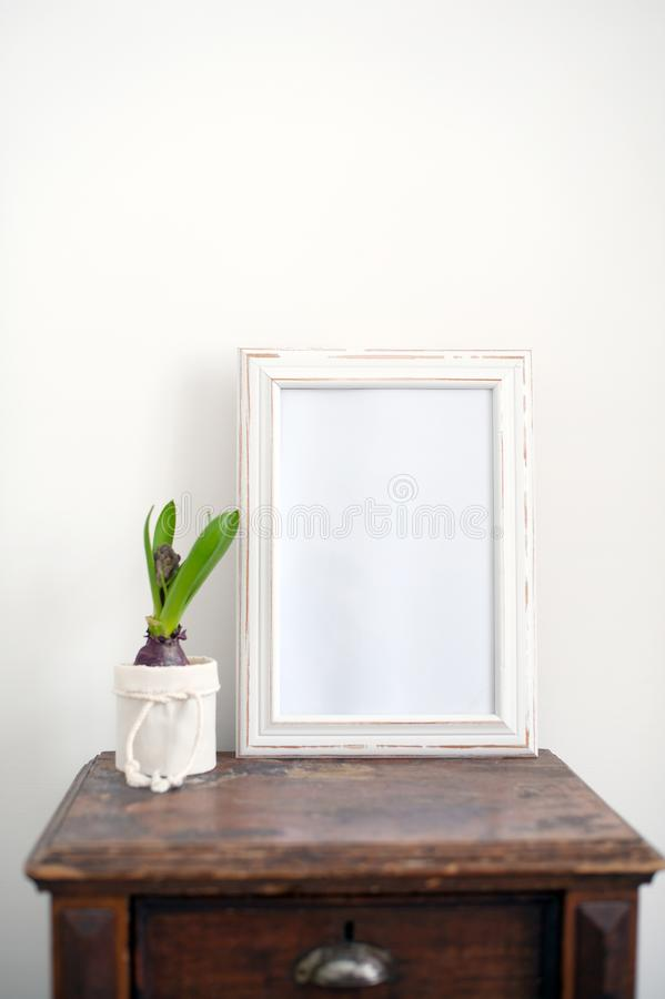 vitt trä för ram royaltyfria foton
