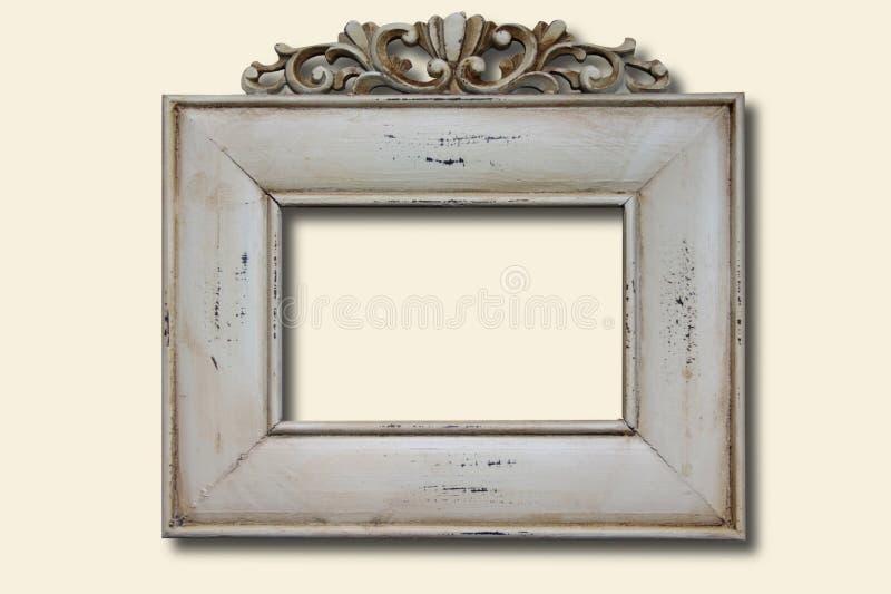 vitt trä för ramfoto royaltyfria bilder