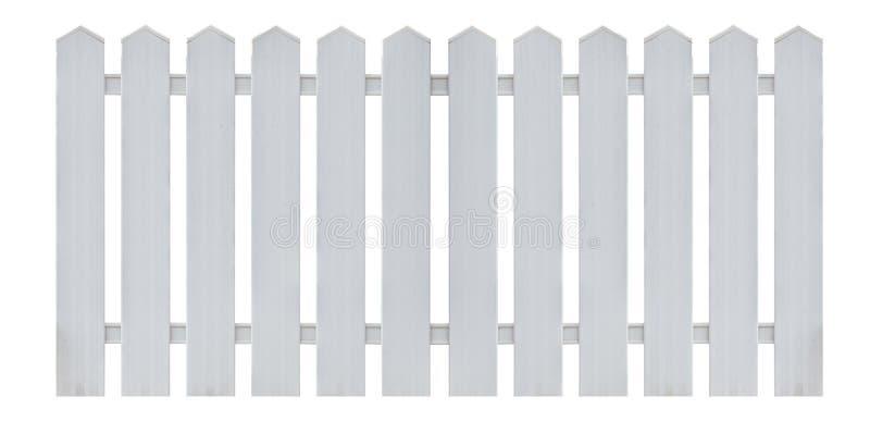 Vitt trästaket som isoleras på vit arkivbild