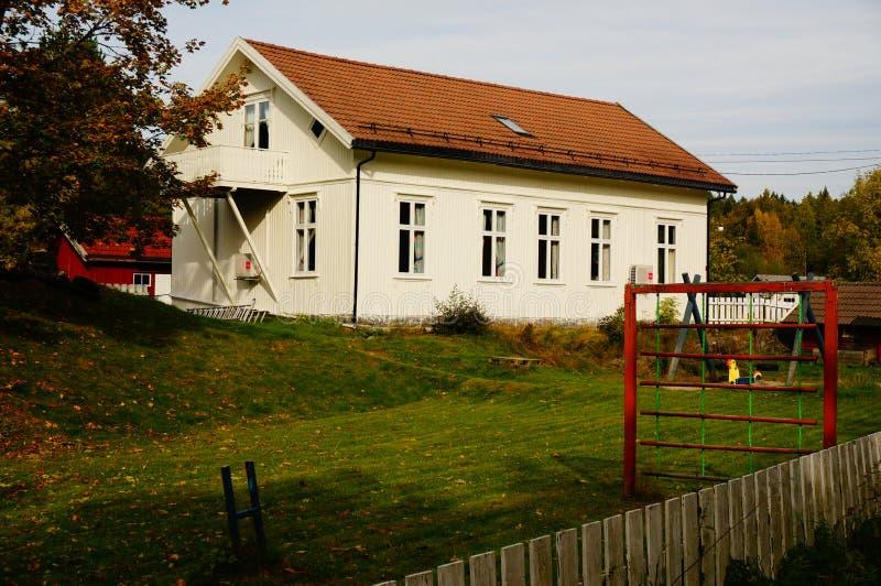 Vitt wood dagis, Telemark, Norge fotografering för bildbyråer