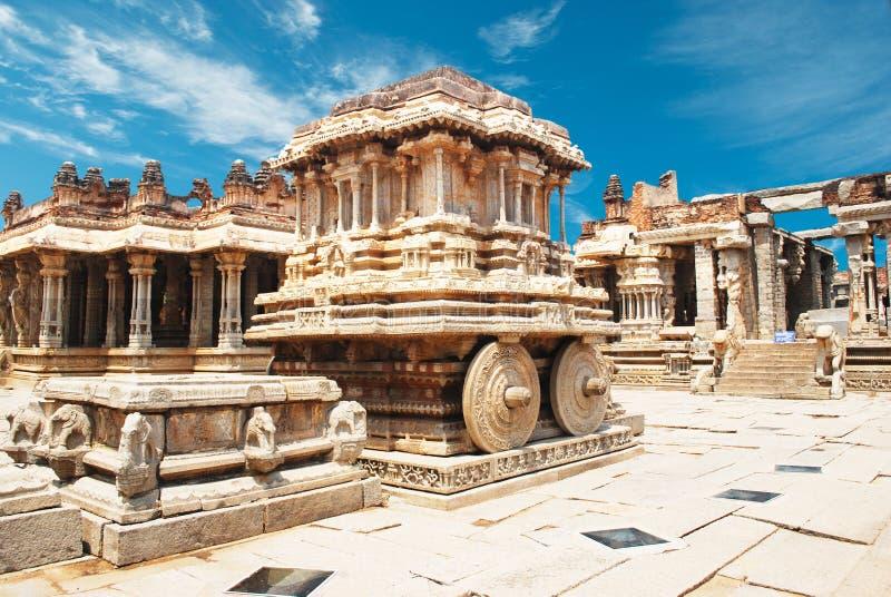 Vittala temple in hampi. India royalty free stock image