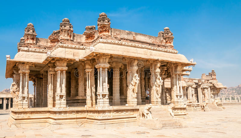 Vittala Temple. In Hampi Complex stock images