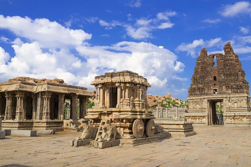 Vittala Temple Hampi, Karnataka, India. Vittala Hindu Temple Hampi, Karnataka, India royalty free stock image