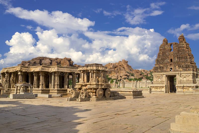 Vittala Temple Hampi, Karnataka, India. Vittala Hindu Temple Hampi, Karnataka, India stock photography