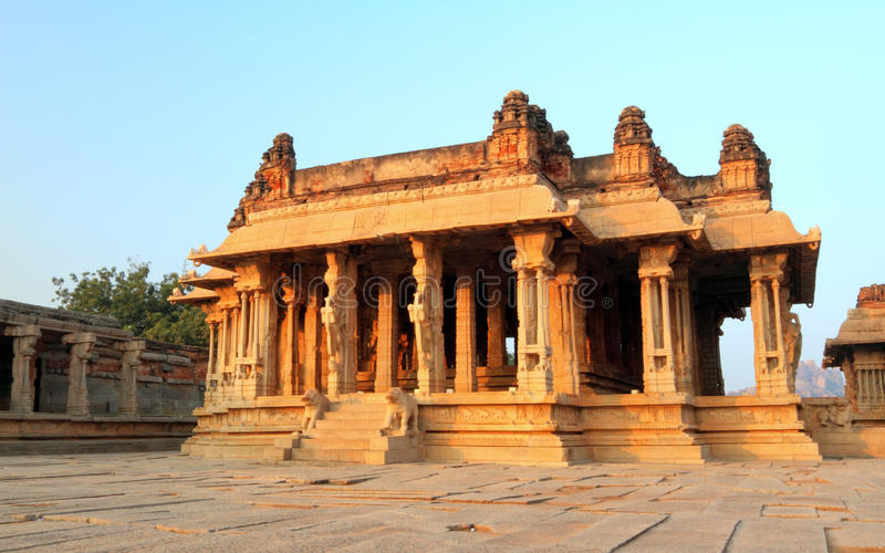 The Vittala temple ruins, Hampi royalty free stock image
