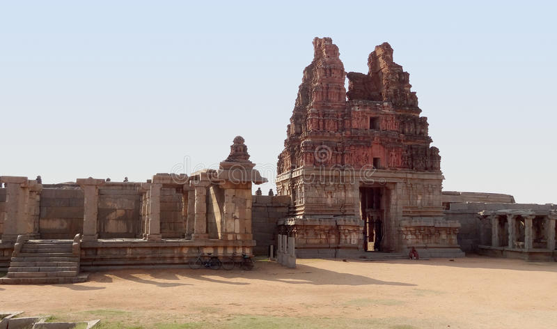 Vittala Temple at Vijayanagara. Vittala Temple at the Sacred Center around Hampi, a city located in Karnataka, South West India stock images