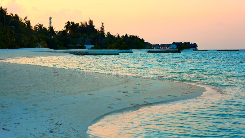 Vittaveli-Strand, Malediven stockfotos