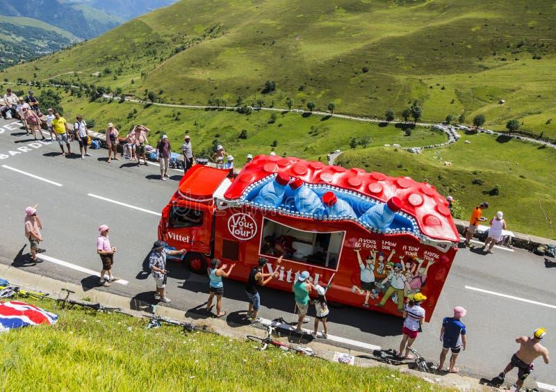 Vittel Vehicle - Tour De France 2014 Editorial Stock Photo