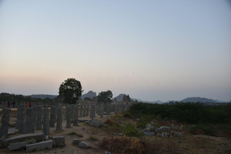 Vitthala tempel, Hampi, Indien royaltyfri bild