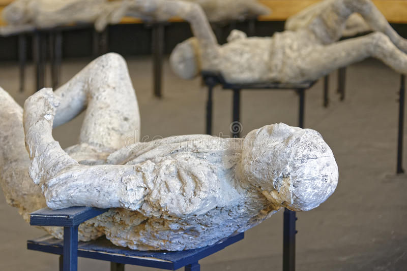 Vittime di Pompei immagini stock libere da diritti