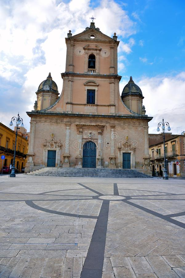 Vittoria Ragusa Italy. Church Saint John the Baptist Vittoria Ragusa Sicily Italy stock photo