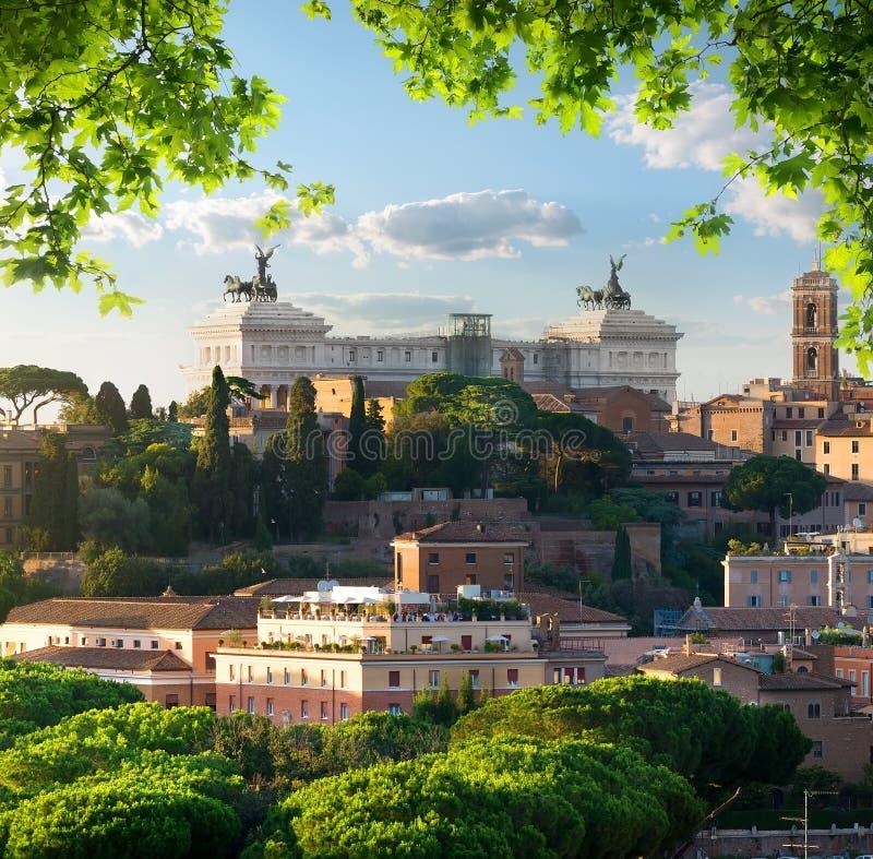 Vittoriano в Рим стоковые фотографии rf