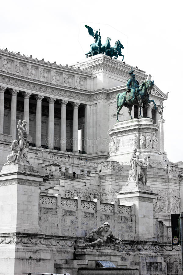 Vittoriano Monument In Rome, Italy Stock Photo - Image of ...