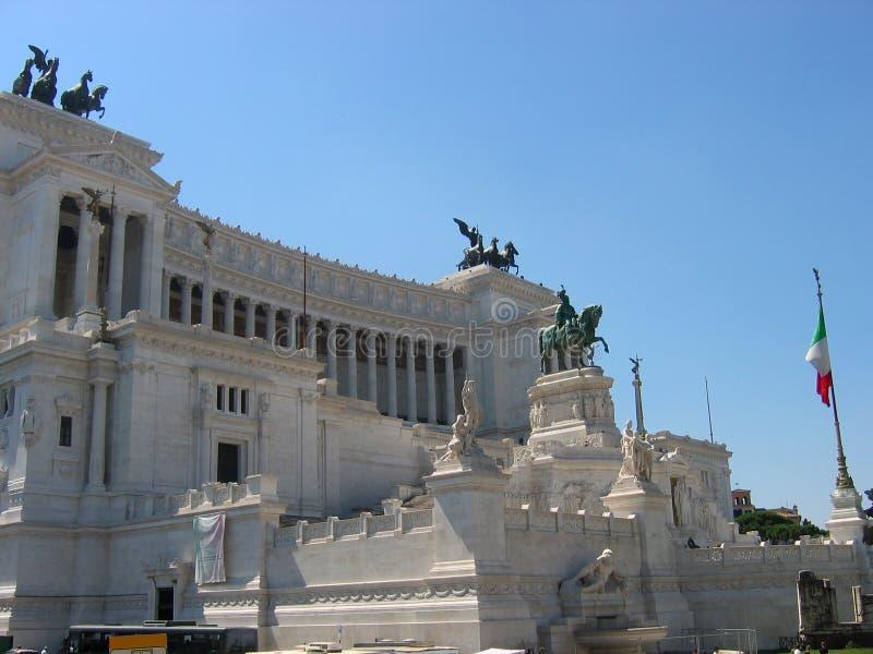 Vittoriano monument som gör till kung Victor Emmanuel II, det mer unifier av Italien, Rome arkivbilder