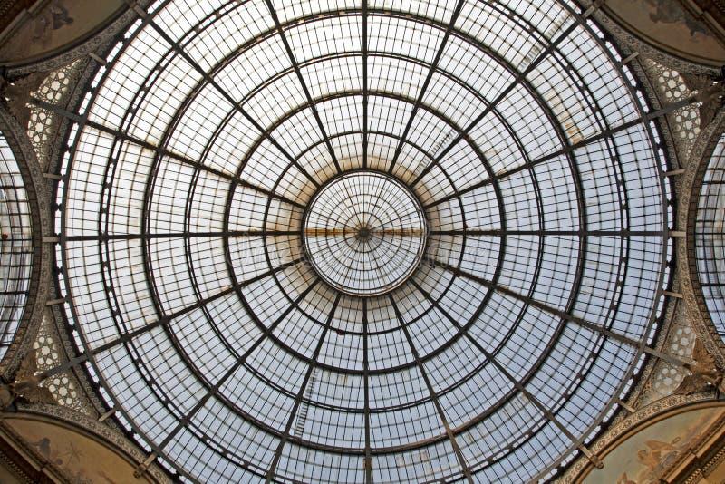 vittorio του Μιλάνου γυαλιού galleri στοκ εικόνα