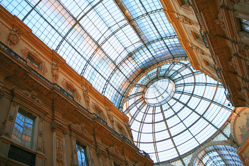 vittorio του Μιλάνου galleria στοκ φωτογραφία με δικαίωμα ελεύθερης χρήσης