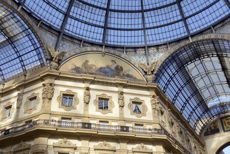 vittorio του Μιλάνου galleria του Emanuele στοκ φωτογραφία