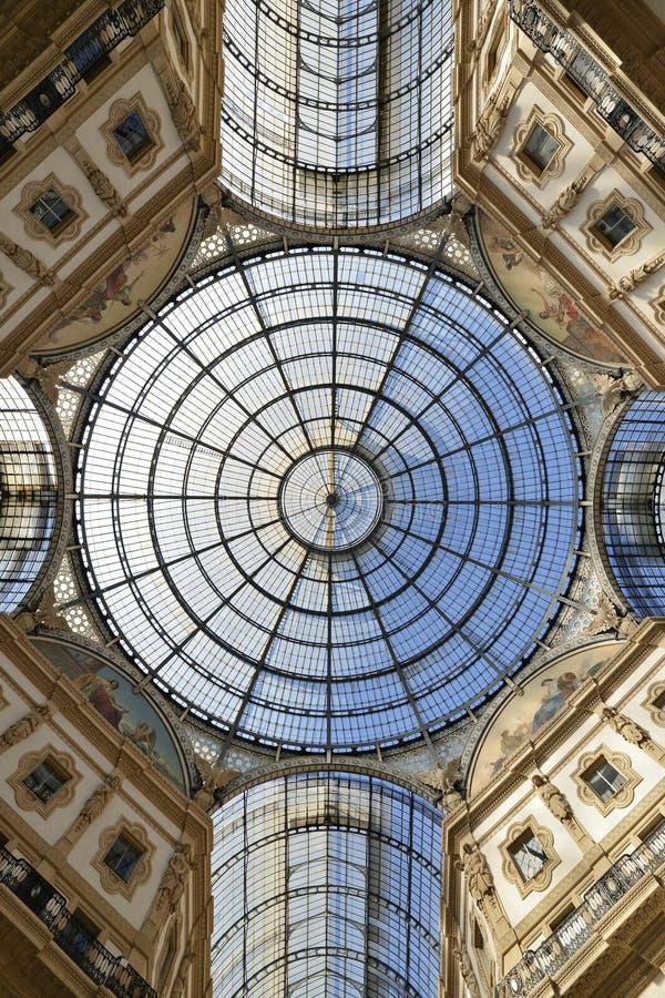vittorio του Μιλάνου galleria του Emanuele στοκ εικόνα με δικαίωμα ελεύθερης χρήσης