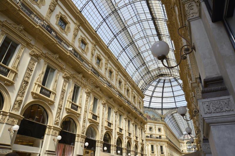 vittorio του Μιλάνου galleria του Emanuele στοκ εικόνες με δικαίωμα ελεύθερης χρήσης