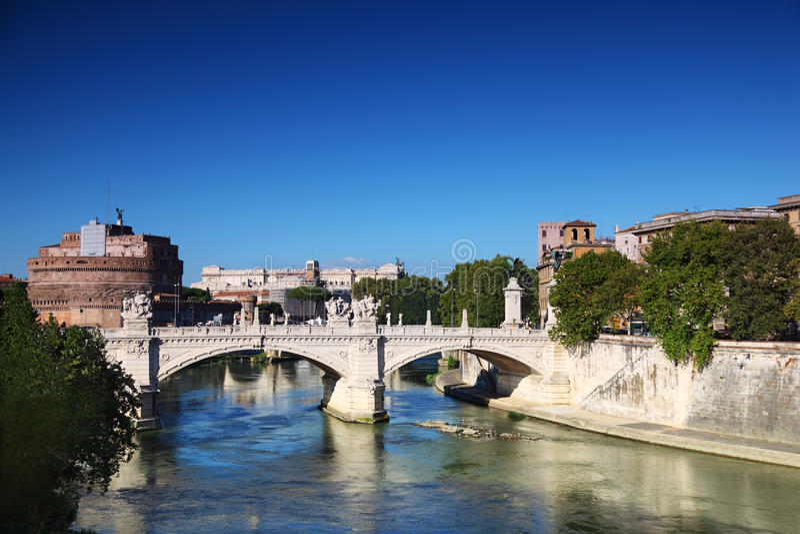 vittorio του Angelo castel Emanuele ponte sant στοκ εικόνες