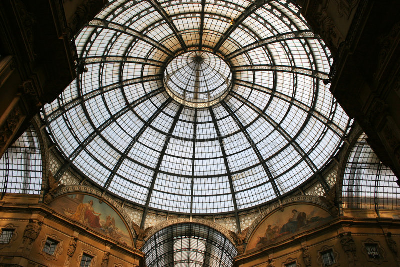 vittorio крыши galleria ii emanuele стоковые изображения