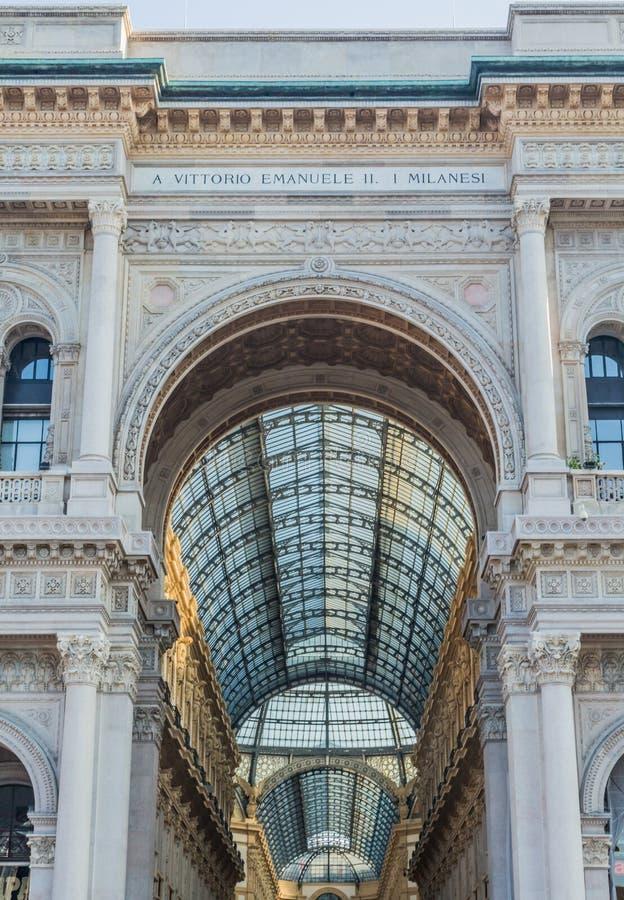 Vittorio Emanuele Galerie von Mailand stockbilder