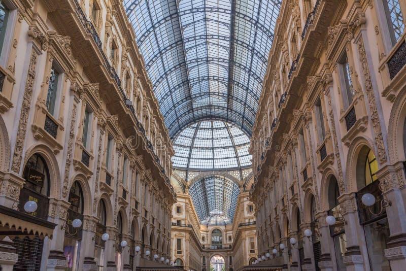 Vittorio Emanuele Galerie von Mailand lizenzfreie stockbilder