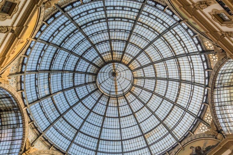 Vittorio Emanuele Galerie von Mailand stockfoto