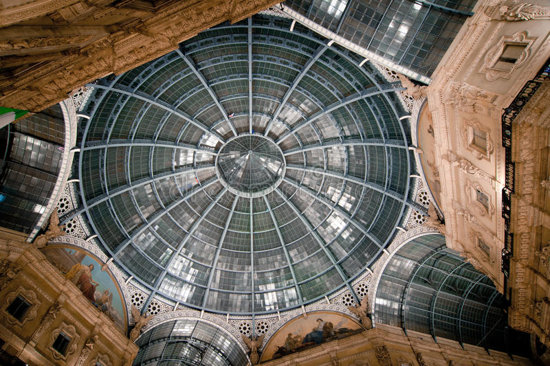 Vittorio Emanuele Gallery - cathedral square royalty free stock photography