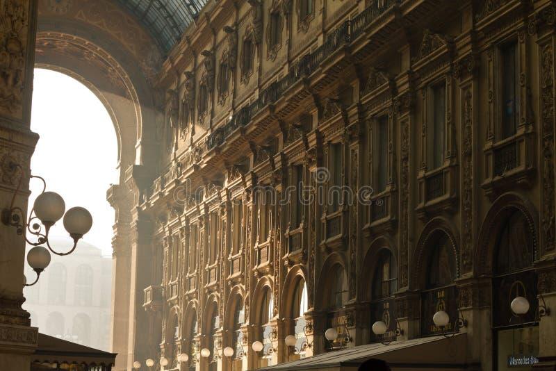 Vittorio Emanuele Gallery interior royalty free stock photo