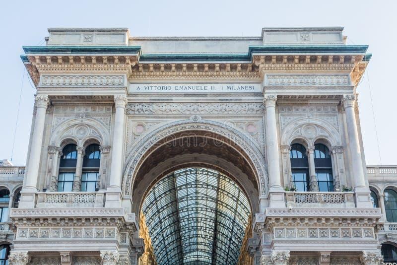 Vittorio Emanuele Gallery of MIlan stock images