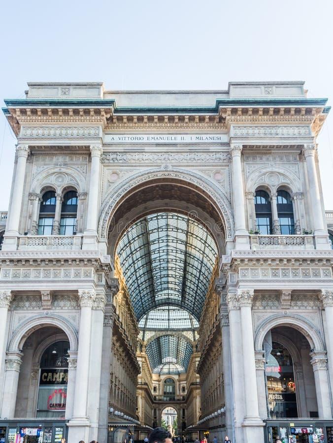 Vittorio Emanuele Gallery of MIlan royalty free stock photo