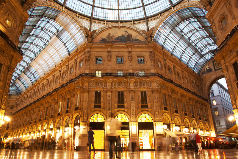 Vittorio Emanuele II画廊。 米兰,意大利 免版税库存图片