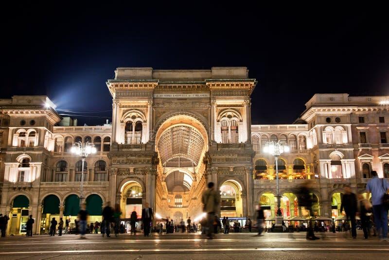 Vittorio Emanuele II Album. Milaan, Italië stock fotografie