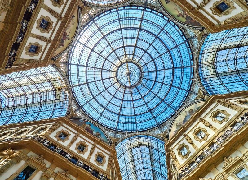 Vittorio Emanuele II Galerie Mailand, Italien lizenzfreie stockbilder