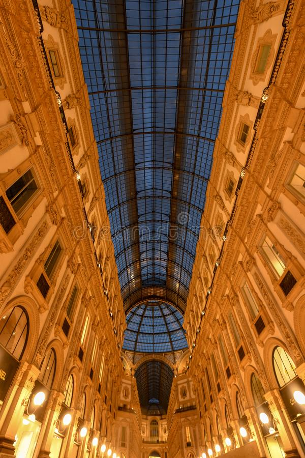 Vittorio Emanuele II galleri - Milan, Italien royaltyfria foton
