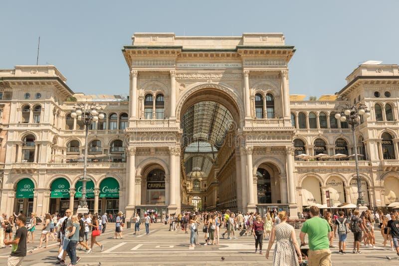 Vittorio Emanuele II Gallery. Milan, Italy royalty free stock photos