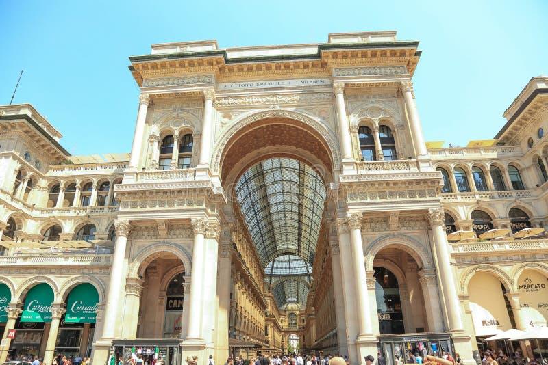 Vittorio Emanuele II Gallery. Milan, Italy royalty free stock photo
