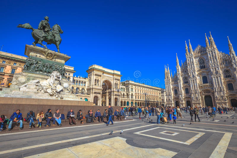 Vittorio Emanuele II Milan royalty free stock photography